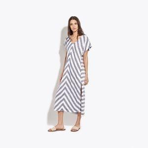 AYR the Maze 100% linen stripe tunic dress